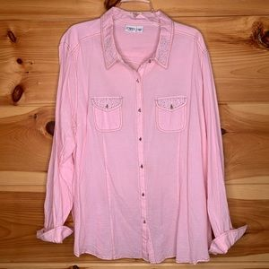 Cato NWOT 26/28 Pink Western Style Top